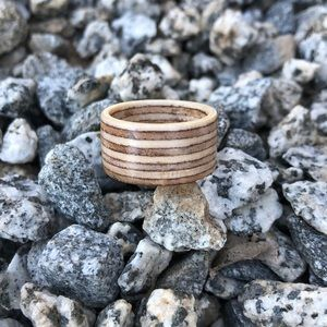 Recycled skateboard ring.